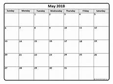 Printable Calendar May May 2018 Calendar Free Printable Monthly Calendars