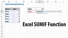 Create A Function In Excel Learn Sumif Function Adding Numbers Based On Criteria