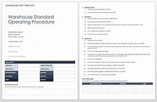 Standard Operating Procedures Template Word Standard Operating Procedures Templates Smartsheet