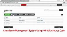 Attendance Management System Template Attendance Management System Using Php With Source Code