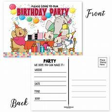 Birthday Invitation Postcards Birthday Party Invitation Postcards 25 Party Invites For