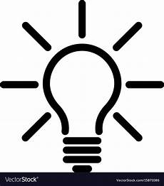 Led Light Bulb Symbol Light Bulb Icon Simple Black Line Symbol Isolated Vector Image