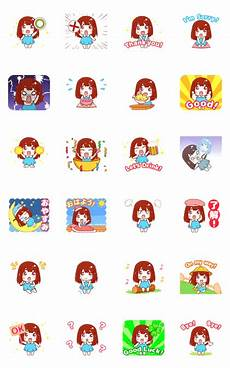 sachi line sticker stickers
