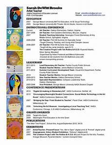 Art Teacher Resume Samples Resume Teacher Resume Template Teaching Resume Resume