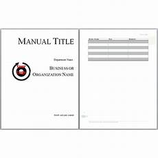 Ms Word User Manual Template 6 Free User Manual Templates Excel Pdf Formats