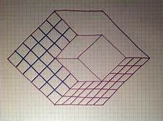 Graph Paper Art Step By Step Draw An Impossible Cube Graphic Inspiration Drawings