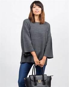 sleeve sweater for sweater bell sleeve knit sweater sweater gray sweater
