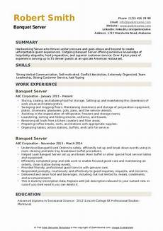 Banquet Resume Sample Banquet Server Resume Samples Qwikresume