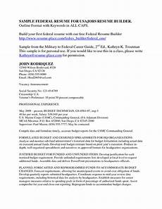 Us Resume Resume Examples Usa Jobs 1 Resume Examples Pinterest