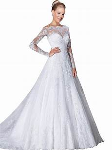 vernassa a line bridal dresses long sleeves off the