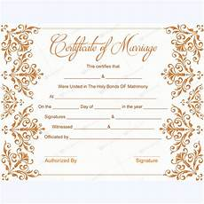 Printable Marriage Certificate Marriage Certificate 02 Word Layouts