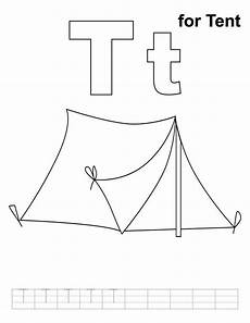 letter size tent card template t is for tent pre writing skills stained glass