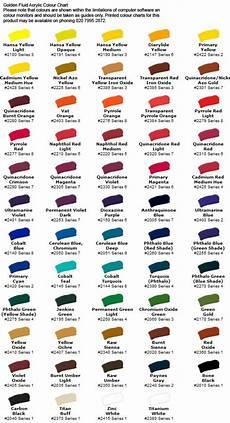 Golden Fluid Acrylic Series 2 Colour Chart Fluid