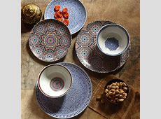 Fez Moroccan Tile Dinner Plates Set of 4: Metallic by