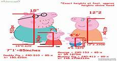 i calculated the heights of the peppa pig family members