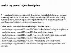 Advertising Executive Job Description Marketing Executive Job Description