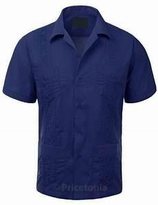 platoon guayabera sleeve mens cuban shirt platoon blue guayabera sleeve mens cuban shirt