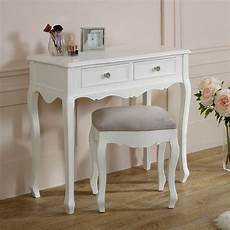 white dressing table stool set range melody
