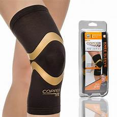 copper fit pro series performance compression knee sleeve