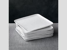 Set of 8 Mercer Square Dinner Plates   Crate and Barrel