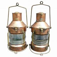Antique Ship Lights Pair Of R C Murray Glasgow Ship S Anchor Lights Or