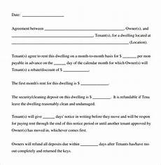 Rental Agreement Template Word Document Free 8 Sample Basic Rental Agreement Templates In Pdf
