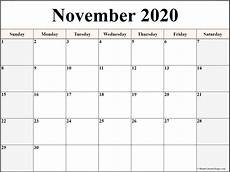 November Template November 2020 Calendar Free Printable Monthly Calendars