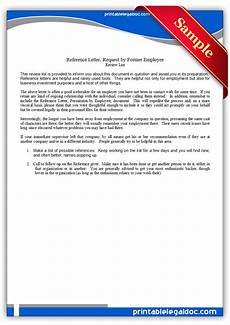 Form Of Reference Letter Free Printable Reference Letter Requested By Employee