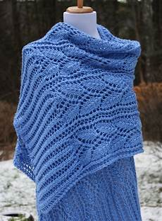 all knitted lace new pattern leafy branches wrap
