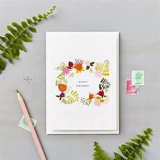 Photo Card Birthday Tropical Abstract Happy Birthday Card Orange Lucy Says I Do