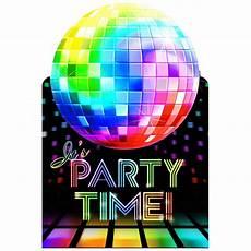 Disco Party Invitations 70 S Disco Invitations 8 Pack Multi Big W