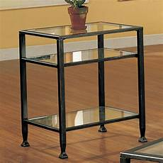 accent table sei bunching metal end table glass side table