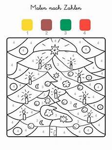 Ausmalbilder Vorschule Zahlen Ausmalbild Malen Nach Zahlen Weihnachtsbaum Ausmalen