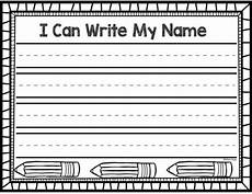 Writing Name Template Name Writing Practice Activities