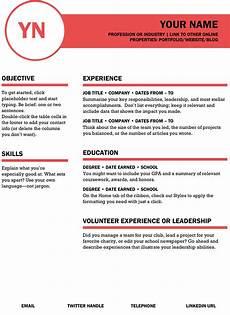polished resume index of resume banner