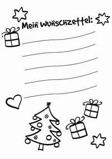 kostenlose malvorlage wunschzettel f 252 r weihnachten