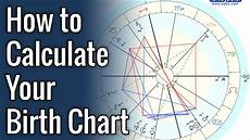 How To Make Your Astrological Chart How To Calculate Your Birth Chart Youtube