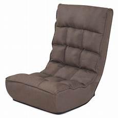 costway 4 position adjustable floor chair folding lazy