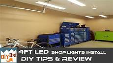 Best Lighting For Machine Shop Installing Led Shop Light Easy How To Instructions 4ft