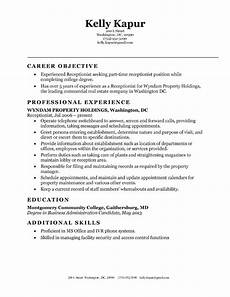 Receptionist Objective On Resume 10 Perfect Receptionist Resume Samplebusinessresume Com