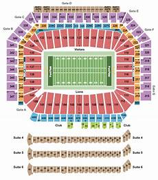 Ford Stadium Seating Chart Ford Field Seating Chart Amp Maps Detroit
