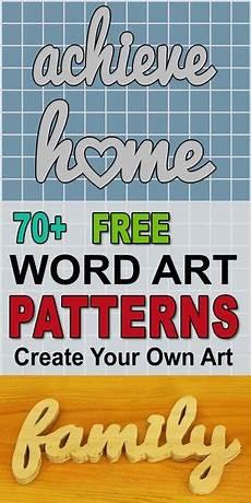 Word Design Online Free Word Art Patterns Templates Stencils Free Printable