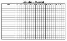 Blank Attendance Sheet For Teachers Calendar Form For Teachers
