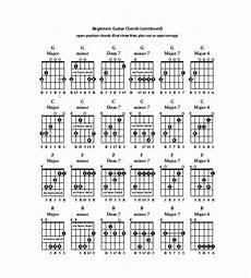 Guitar Chart Pdf 5 Guitar Chord Chart Templates Doc Excel Pdf Free