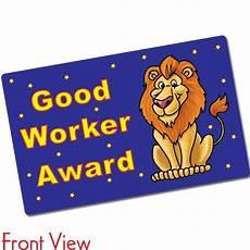 Good Worker Good Worker Award Certificards 10 Cards 86mm X 54mm