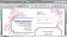 How To Make Invitations On Microsoft Word How To Customize An Invitation Template In Microsoft Word