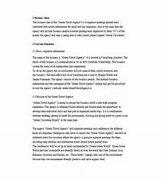 Sample Travel Agency Business Plan 11 Travel Business Plan Templates Docs Word Free