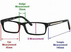Eyeglasses Measurements Chart How Are Glasses Frame Sizes Measured