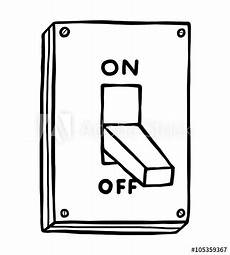 Light Switch Cartoon Images Electric Switch Cartoon Vector And Illustration Black