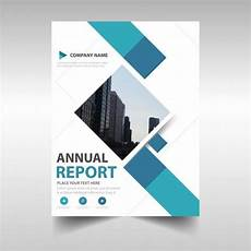 Free Report Cover Templates Download Blue Creative Annual Report Book Cover Template
